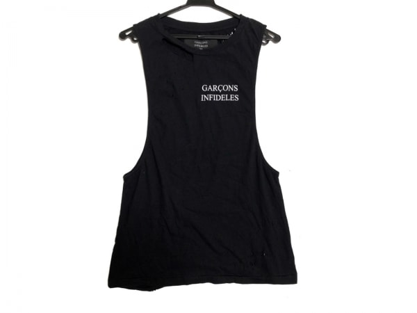 ギャルソンインフィデレス ノースリーブTシャツ サイズXS メンズ新品同様  黒