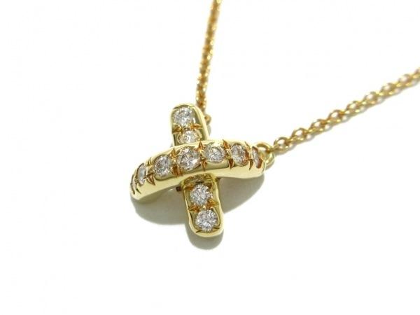 ティファニー ネックレス新品同様  シグネチャー K18YG×ダイヤモンド 11Pダイヤ