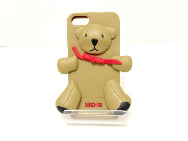 MOSCHINO(モスキーノ) 携帯電話ケース ブラウン×レッド×黒 クマ/iPhone 5 ラバー