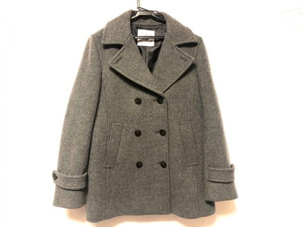 J.PRESS(ジェイプレス) Pコート サイズ9 M レディース新品同様  グレー 冬物