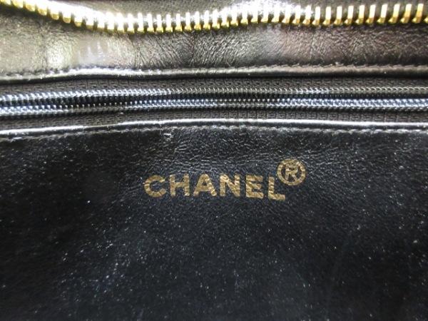 CHANEL(シャネル) トートバッグ 復刻トート 黒 ゴールド金具 ラムスキン