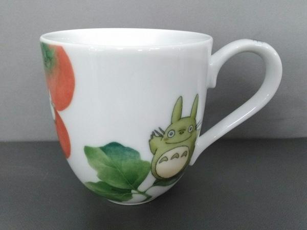 Noritake(ノリタケ) マグカップ新品同様  白×グリーン×レッド となりのトトロ 陶器