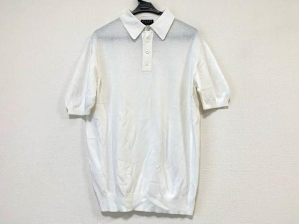 GUCCI(グッチ) 半袖ポロシャツ サイズXL レディース 白