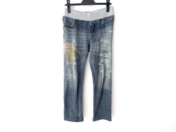 ヒステリックグラマー パンツ サイズFree F レディース ネイビー×グレー×マルチ