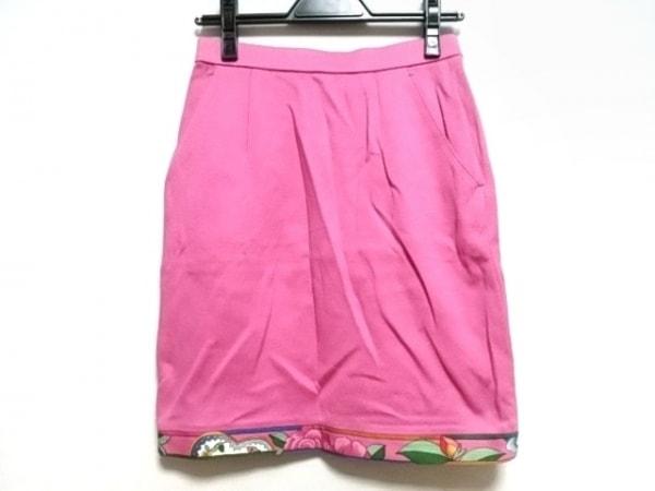 LEONARD(レオナール) スカート サイズM レディース美品  ピンク ペチコート/SPORT