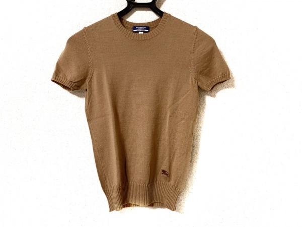 バーバリーブルーレーベル 半袖セーター サイズ38 M レディース美品  ベージュ