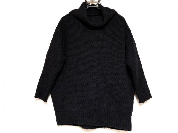 デザインワークス 長袖セーター サイズ38 M レディース ダークネイビー ハイネック