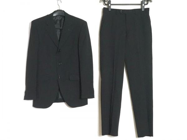 FICCE(フィッチェ) シングルスーツ メンズ 黒 肩パッド/ネーム刺繍
