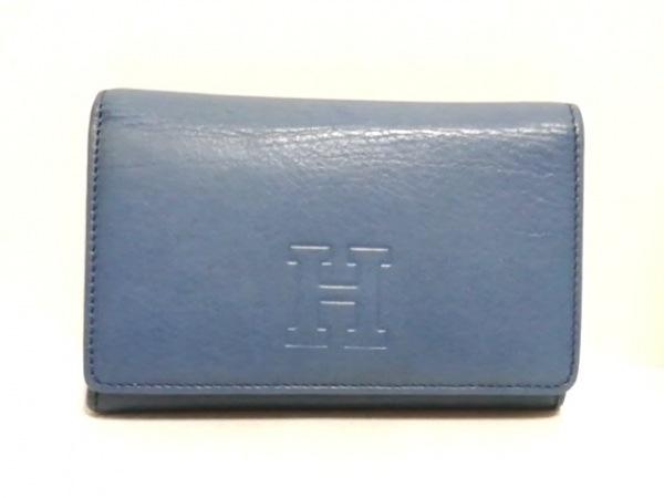 HIROFU(ヒロフ) 2つ折り財布 ブルー レザー