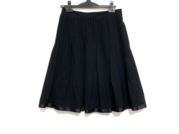 バーバリーロンドン スカート サイズ38 L レディース美品  黒 プリーツ