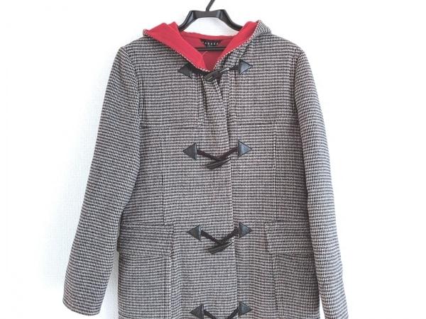 TABASA(タバサ) ダッフルコート サイズ36 S レディース美品  黒×アイボリー 冬物