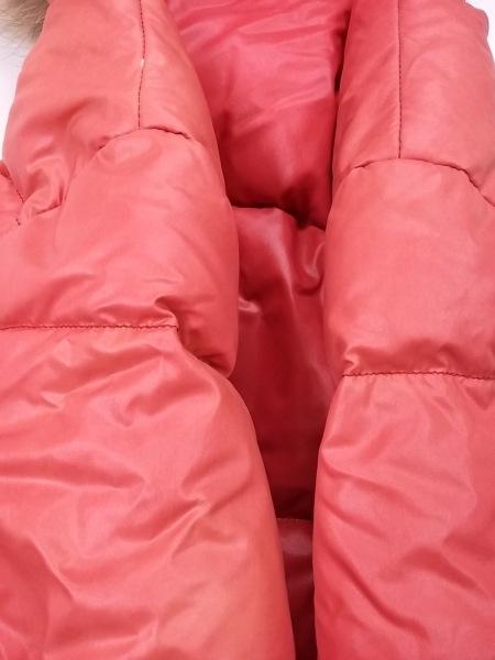 デュベティカ ダウンジャケット サイズ46 L レディース Vega オレンジ ファー/冬物