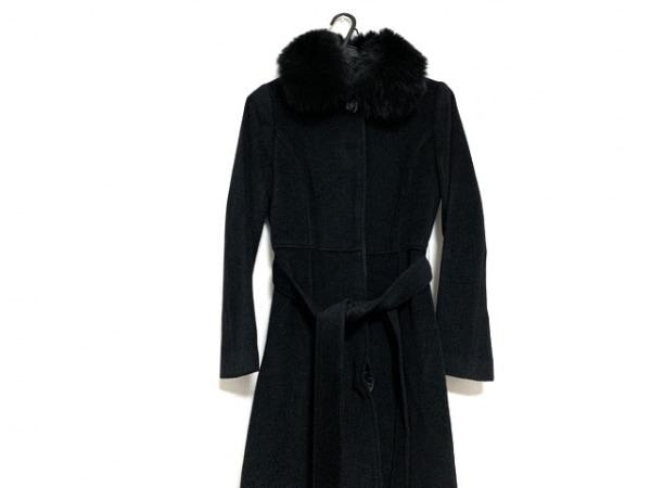 INDIVI(インディビ) コート サイズ36 S レディース美品  黒 ファー/冬物