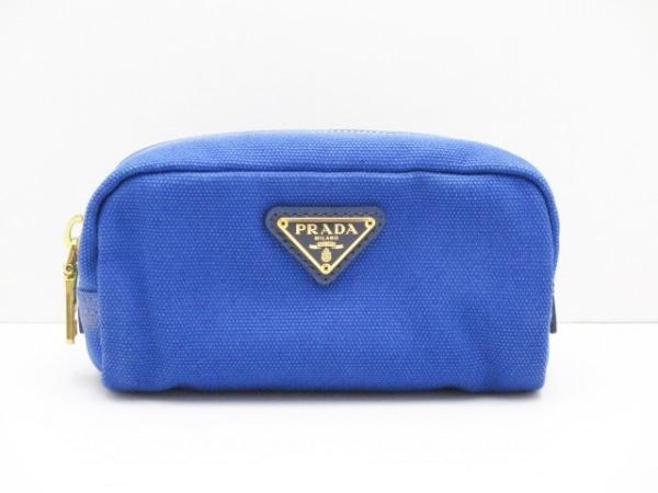 PRADA(プラダ) ポーチ - 1N0175 ブルー キャンバス