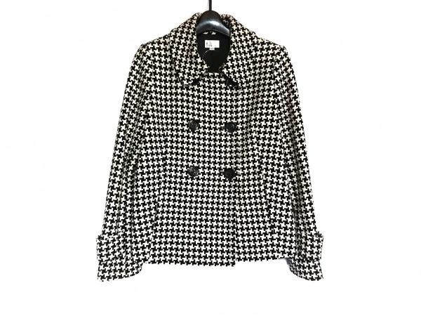 a' aire(アエル) コート サイズ40 M レディース美品  黒×アイボリー ショート丈/冬物