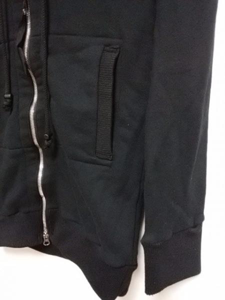 bajra(バジュラ) パーカー レディース 黒×グレー ジップアップ/刺繍/スカル