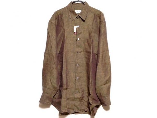 Brioni(ブリオーニ) 長袖シャツ サイズM メンズ ブラウン×ダークブラウン