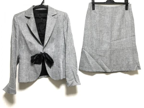 ReFLEcT(リフレクト) スカートスーツ サイズ42 L レディース 黒×アイボリー ラメ