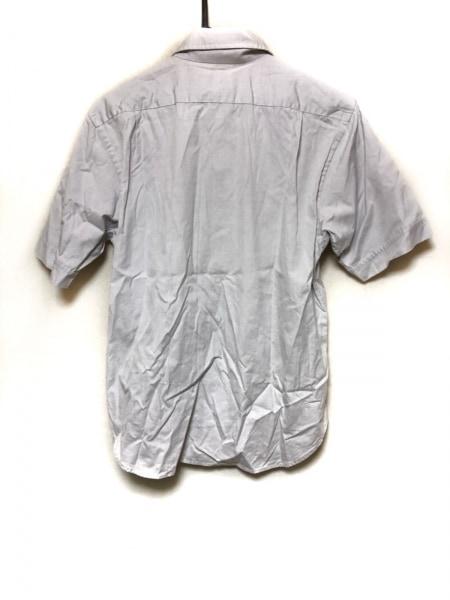 バーバリーブラックレーベル 半袖シャツ サイズ2 M メンズ ライトグレー