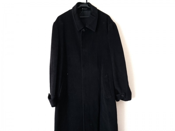monsieur NICOLE(ムッシュニコル) コート サイズ50 メンズ美品  黒 冬物/ロング丈
