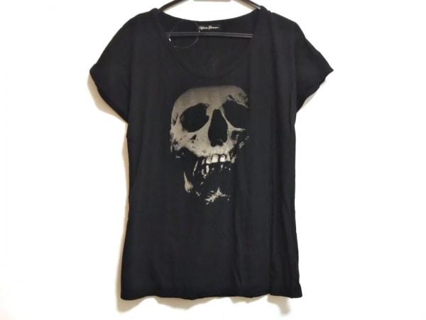 ヒステリックグラマー 半袖Tシャツ サイズF レディース美品  黒 スカル/イチゴ