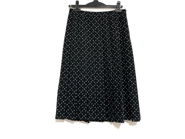 バーバリーロンドン スカート サイズ40 L レディース美品  黒×白 プリーツ