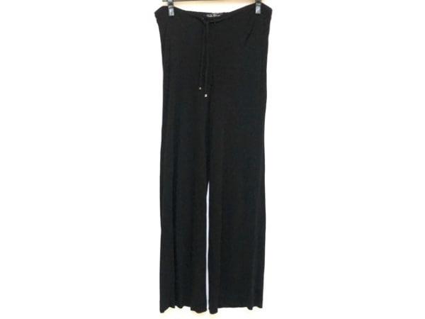 サルバトーレフェラガモ パンツ サイズ42 M レディース 黒 ウエストゴム