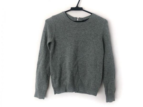 セオリー 長袖セーター サイズS レディース美品  ライトグリーン ジップアップ