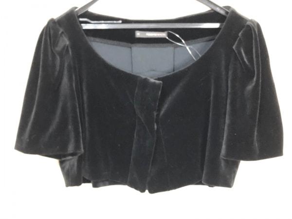 フォクシーニューヨーク ジャケット サイズ40 M レディース 黒 ショート丈/ベロア