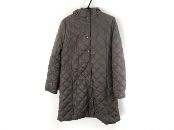 ジュンコシマダ コート サイズ11 M レディース美品  カーキ 冬物/PART2/内側ボア
