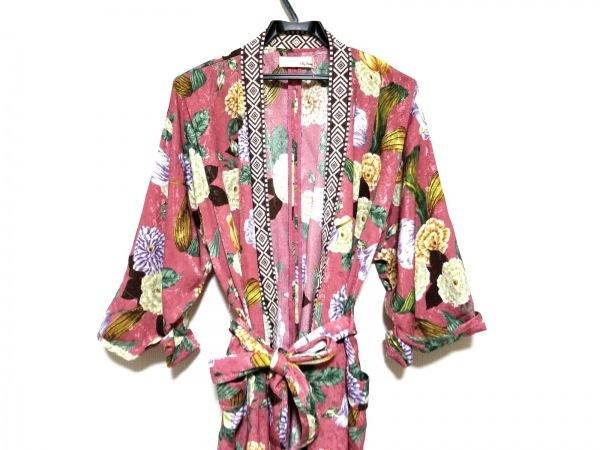 リリーブラウン ワンピース サイズF レディース美品  ピンク×マルチ 花柄