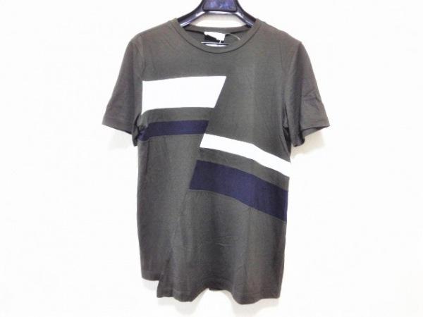 JILSANDER(ジルサンダー) 半袖Tシャツ サイズS レディース美品  カーキ×白×ネイビー