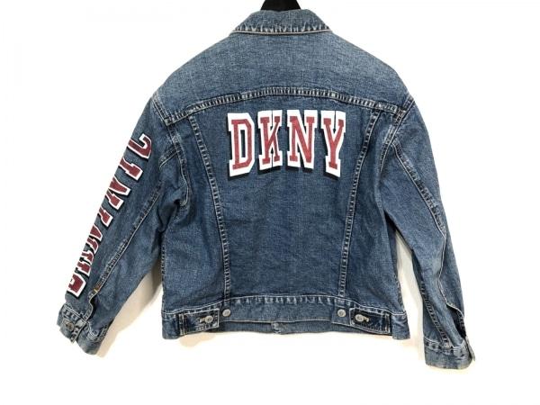 DKNY(ダナキャラン) Gジャン レディース ネイビー DKNY petite/ダメージ加工