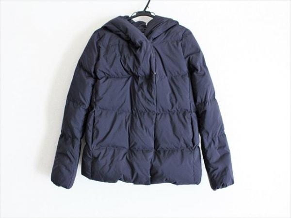 PLS+T(PLST)(プラステ) ダウンジャケット サイズM レディース美品  ネイビー 冬物