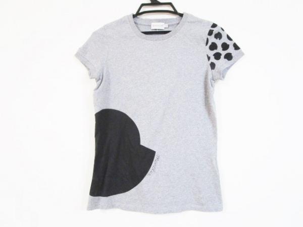 MONCLER(モンクレール) 半袖Tシャツ サイズXS レディース グレー×黒