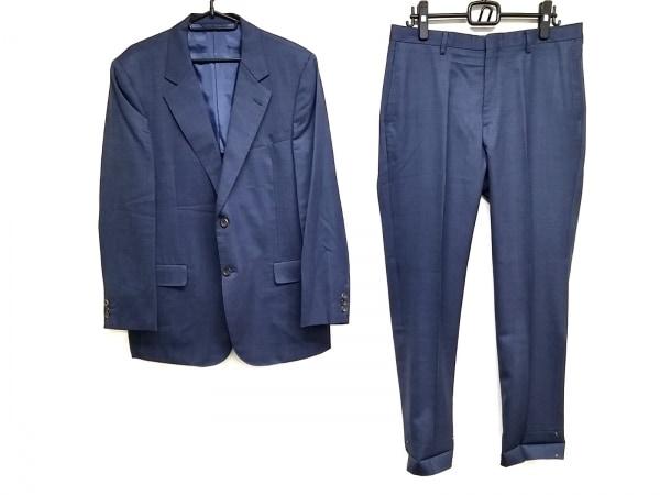 ニューヨーカー シングルスーツ サイズAB7 メンズ ネイビー×黒 パンツ×2
