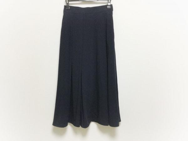 ランバンオンブルー ロングスカート サイズ38 M レディース美品  ダークネイビー