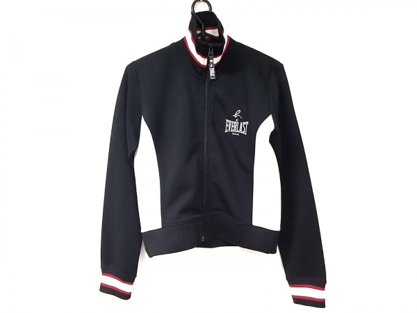 agnes b(アニエスベー) ジャージ サイズS レディース美品  黒×白×レッド EVERLAST