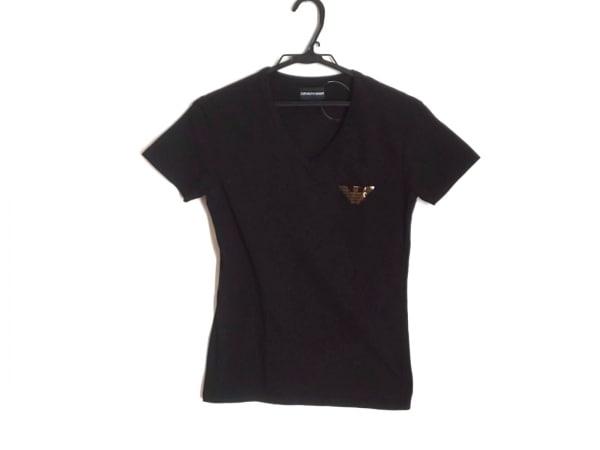 エンポリオアルマーニ 半袖Tシャツ サイズM メンズ美品  黒 ラインストーン