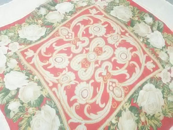 NINARICCI(ニナリッチ) スカーフ美品  ベージュ×レッド×マルチ 花柄