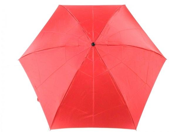 ChristianDior(クリスチャンディオール) 折りたたみ傘美品  レッド 化学繊維