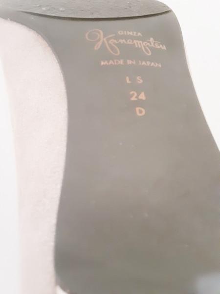 ギンザカネマツ パンプス 24 レディース美品  ベージュ スパンコール スエード