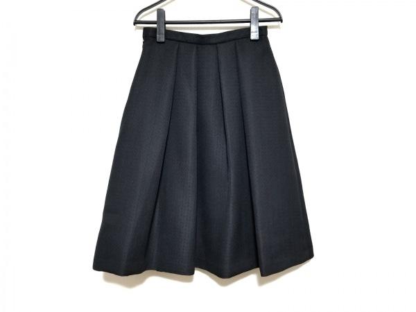 ダーマコレクション スカート サイズ61-89 レディース美品  黒 ギャザー