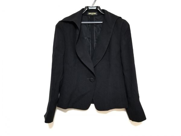 HIROKO KOSHINO(ヒロココシノ) ジャケット サイズ40 M レディース美品  黒 肩パッド