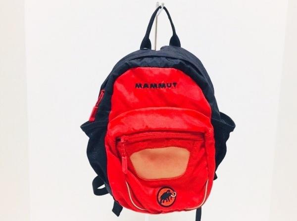 MAMMUT(マムート) リュックサック 黒×レッド ナイロン