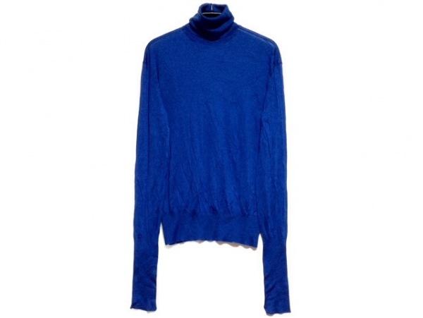 CELINE(セリーヌ) 長袖セーター サイズXS レディース ブルー タートルネック
