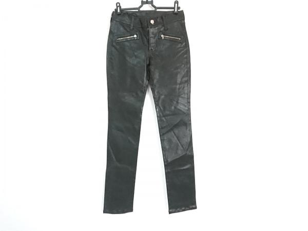 LORENZO ASOLA(ロレンツォアゾラ) パンツ サイズ38 M レディース新品同様  黒 レザー
