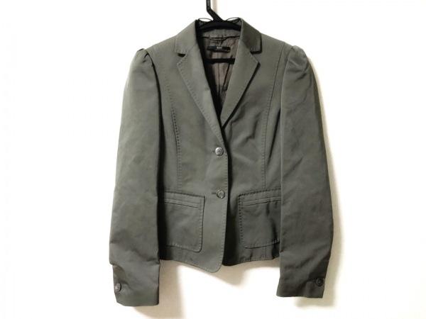 HUGOBOSS(ヒューゴボス) ジャケット サイズ2 M レディース美品  カーキ 肩パッド