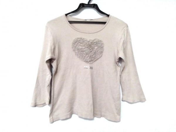 PINK HOUSE(ピンクハウス) 七分袖Tシャツ サイズM レディース ライトベージュ