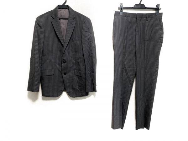 monsieur NICOLE(ムッシュニコル) シングルスーツ メンズ ダークグレー ストライプ